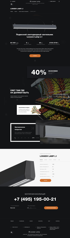 Разработка интернет-магазина производственной компании Lossew - Страница товара