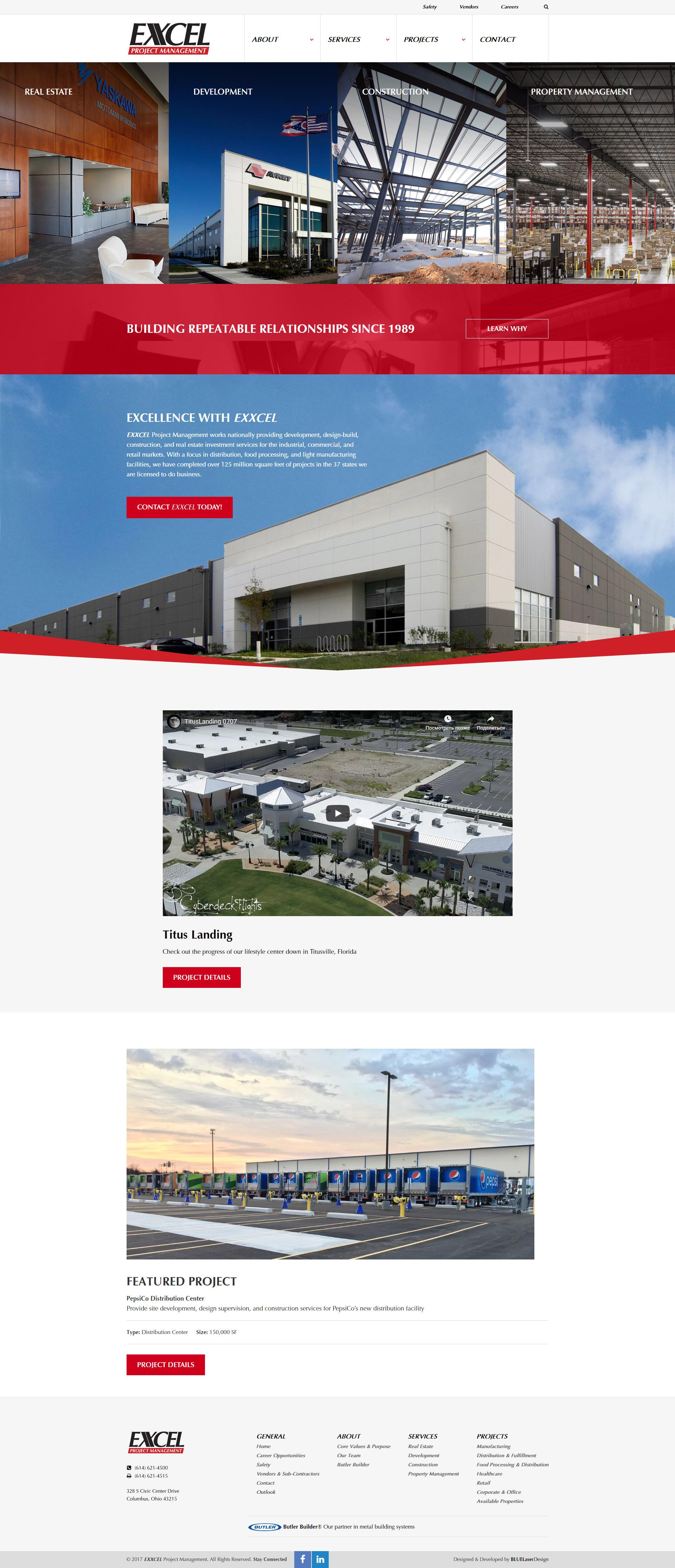 Разработка сайта строительной фирмы Москва