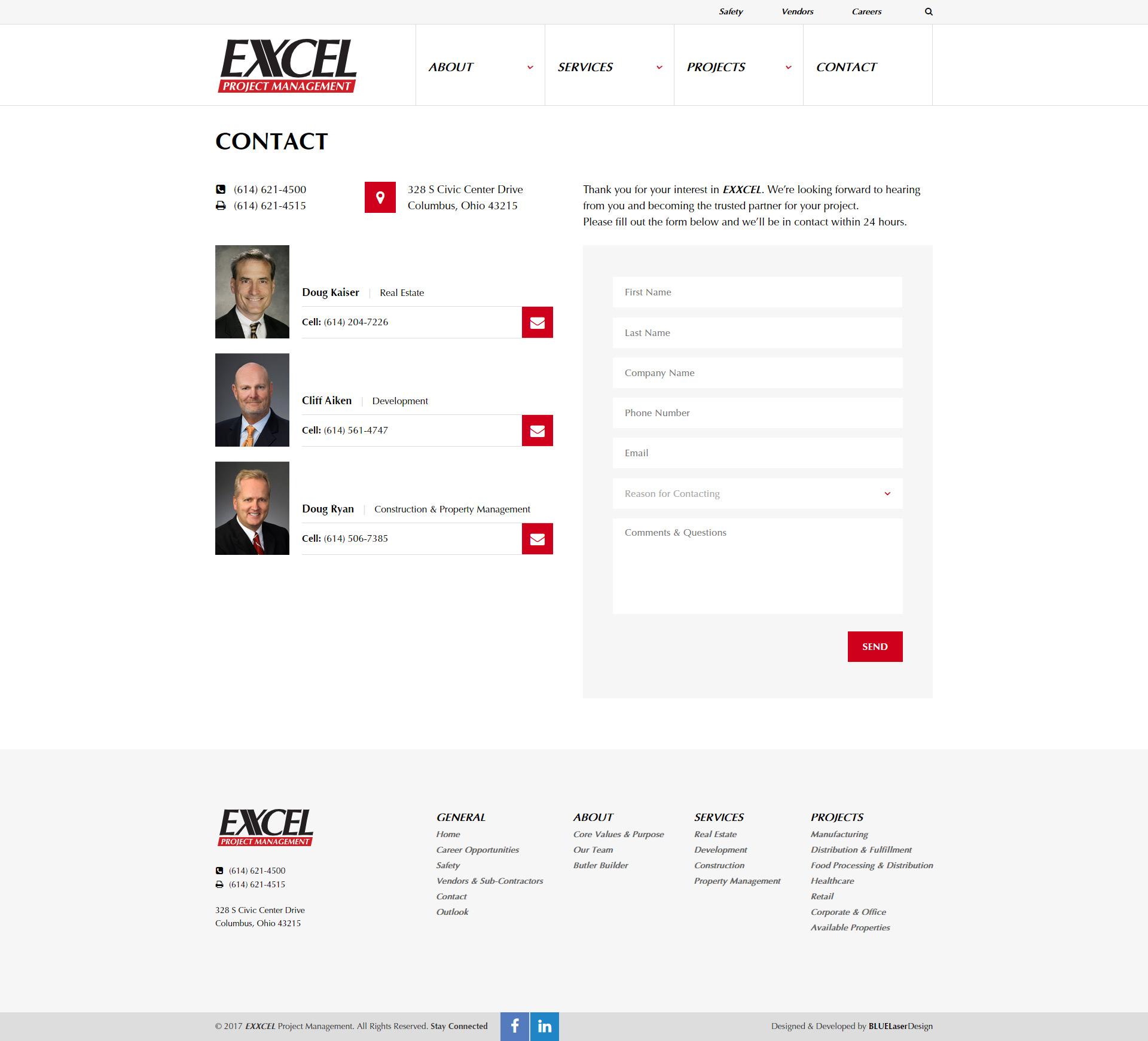 Разработка сайта строительной компании в Огайо